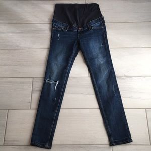 H&M Distressed Maternity Jeans